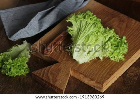 Nyers zöld organikus vaj saláta kész Stock fotó © Virgin