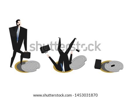 Baas ondergrondse riool zakenman man bouw Stockfoto © MaryValery