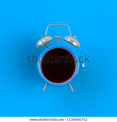 azul · despertador · quadro · retro · branco · relógio - foto stock © nobilior