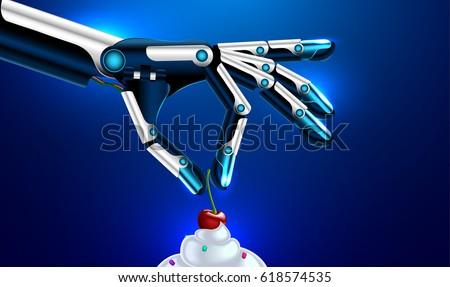Set of Cyborgs. People with mechanical limbs. Robotic Bionic  bo Stock photo © popaukropa
