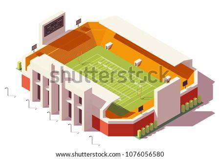 ベクトル · アイソメトリック · 低い · サッカー · スタジアム · サッカー - ストックフォト © sidmay