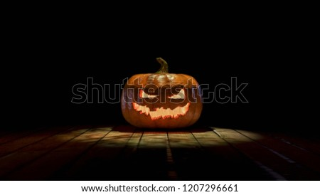 Halloween tökök 3d illusztráció gyertyák fából készült palánk Stock fotó © Wetzkaz