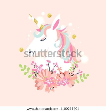 ピンク 孤立した 虹 妖精 馬 ホーン ストックフォト © MaryValery