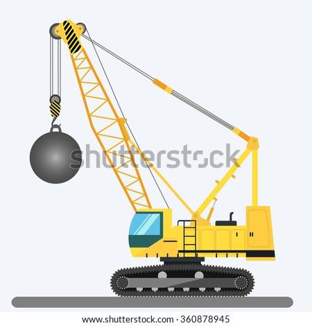 Gru palla isolato costruzione macchine vettore Foto d'archivio © popaukropa