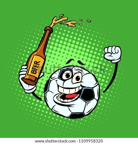 futbol · topu · bira · yalıtılmış · beyaz · parti · ışık - stok fotoğraf © rogistok