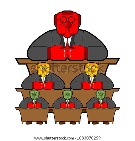 Bureaucracy system government officials State employee Cartoon s Stock photo © popaukropa