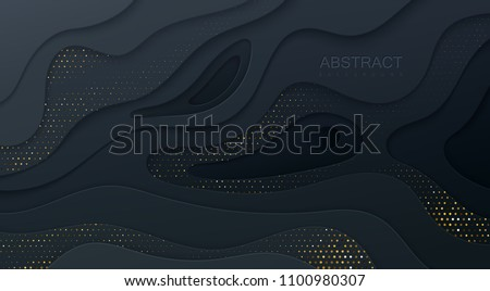 abstract papercut layered background design Stock photo © SArts