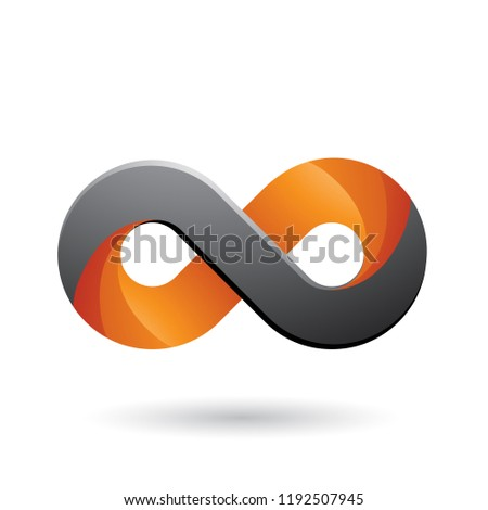 Infinity Symbol with Orange and Grey Color Tints Vector Illustra Stock photo © cidepix