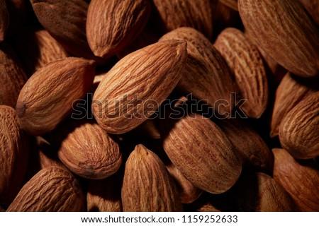 Organisch textuur amandelen macro amandel Stockfoto © artjazz