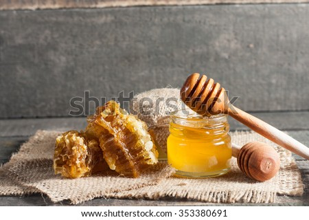 Orgánico naturales frescos miel vidrio olla Foto stock © artjazz