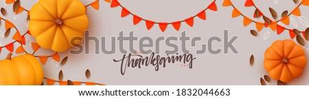 Halloween parti uçan örnek sonbahar yaprakları matbaacılık Stok fotoğraf © articular