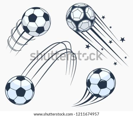 Футбол футбола движущихся Элементы динамический спорт Сток-фото © Andrei_