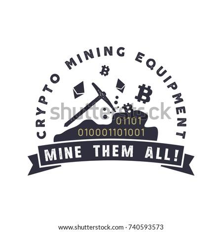 Madencilik amblem para etiket dijital Stok fotoğraf © JeksonGraphics