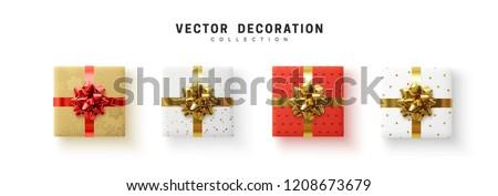 Ayarlamak kutuları Noel hediyeler yalıtılmış beyaz Stok fotoğraf © Lady-Luck