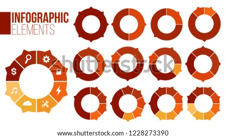 Set of circle chart infographic templates with1-8 options for presentations, advertising, layouts, a Stock photo © kyryloff