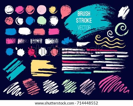 brush strokes isolated on white background made in vector hand drawn brush stroke vector design ele stock photo © kollibri