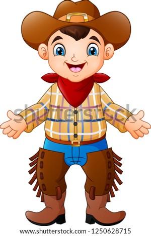 Cowboy férfi western tehén fiú karakter Stock fotó © NikoDzhi