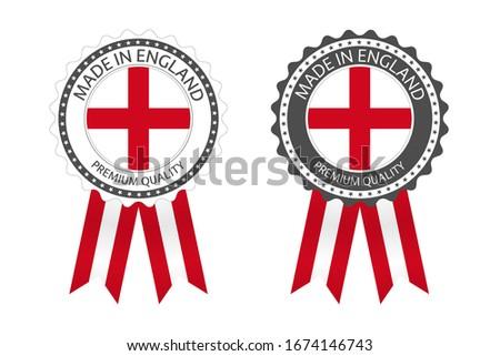 moderna · vector · Inglaterra · etiqueta · aislado · blanco - foto stock © kurkalukas