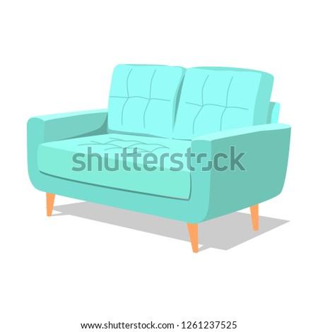 современных бирюзовый мягкой кресло интерьер Сток-фото © MarySan