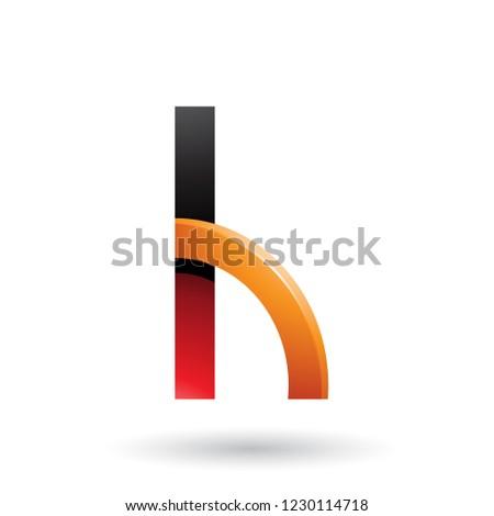 Rouge orange lettre h forme vecteur Photo stock © cidepix