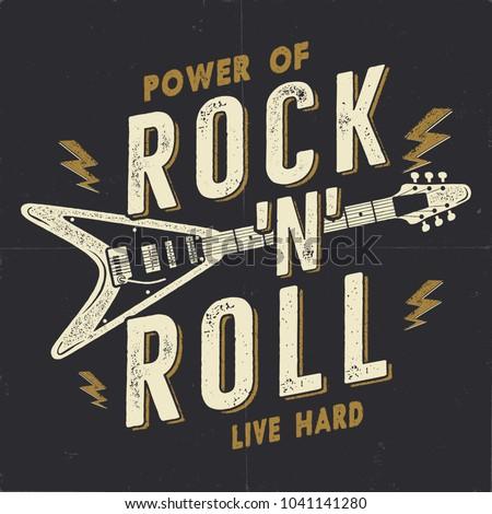 Foto stock: Vintage · rock · rodar · anunciante · música