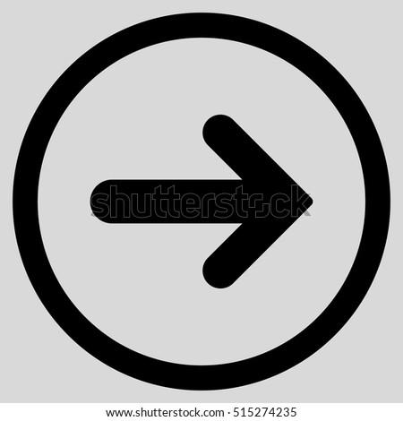arrow or cursor indicates the direction inside the circle icon vector illustration flat design sty stock photo © kyryloff