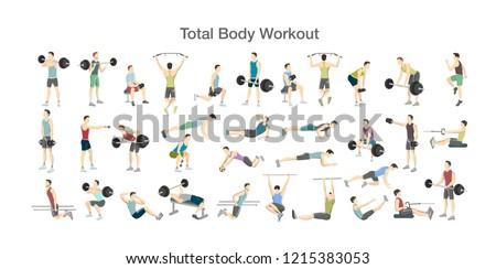 Atlet ayarlamak vektör adam kadın grup Stok fotoğraf © pikepicture