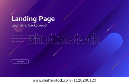 motion graphic design concept landing page stock photo © rastudio