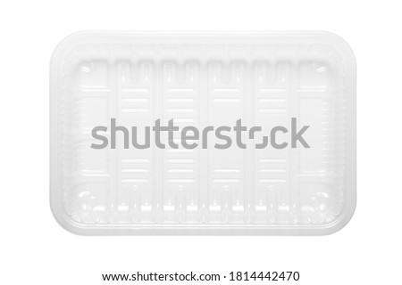 Fehér tányér izolált átlátszó doboz felfelé Stock fotó © Fosin