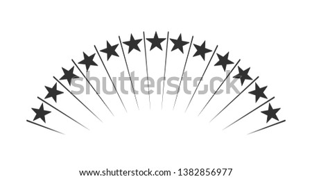 abstract up raising stars shooting stars fireworks vector illustration isolated on black backgrou stock photo © kyryloff