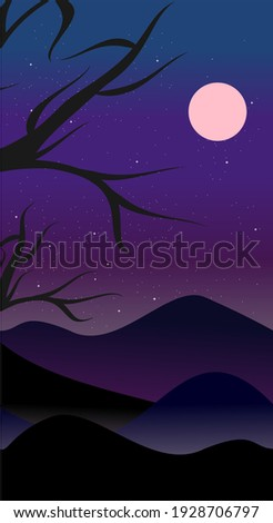 mountains background at night vector travel theme banner roman stock photo © frimufilms
