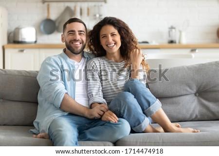 Romantique humeur souriant bonheur séance Photo stock © ElenaBatkova