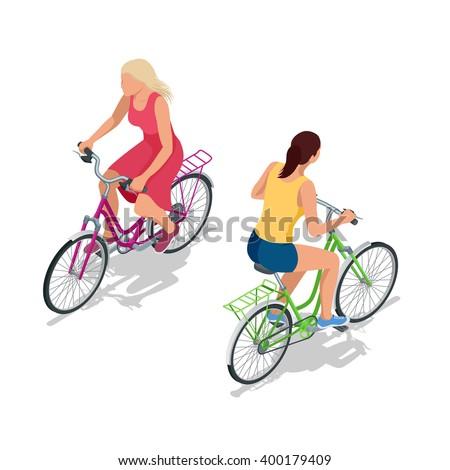 サイクリスト · ライディング · 自転車 · ベクトル · インフォグラフィック · ポスター - ストックフォト © marish