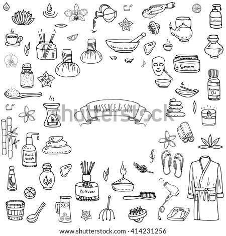 cartoon · cute · scarabocchi · massaggio · illustrazione - foto d'archivio © balabolka