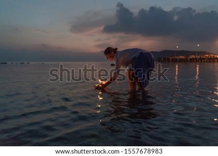 Festival · Feuer · Kerze · Sterne · Flamme · Feier - stock foto © galitskaya