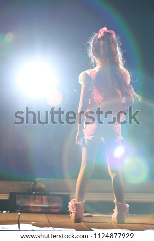 Beautiful young girl beauty contest winner with long healthy glossy hair with gold tiara Stock photo © serdechny