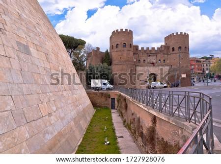 Pirámide ciudad Roma vista paisaje verde Foto stock © xbrchx