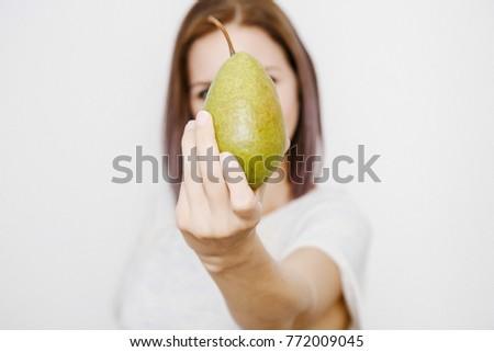 рук груши портрет стороны Сток-фото © serdechny
