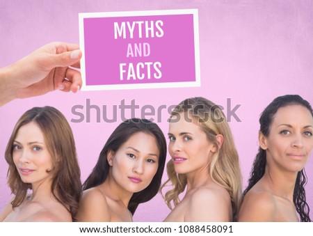Tévhit tények szöveg kéz tart kártya Stock fotó © wavebreak_media