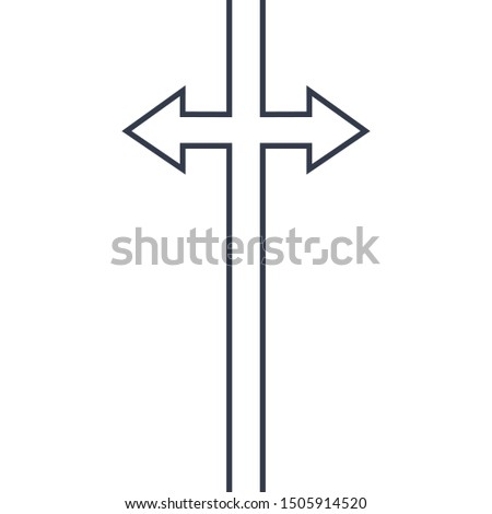 Abstract opposite dirrection arrows sign. Continuous line drawing icon. for your web site design, lo Stock photo © kyryloff