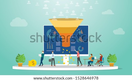 Customer attraction marketing strategy vector concept metaphor. Stock photo © RAStudio