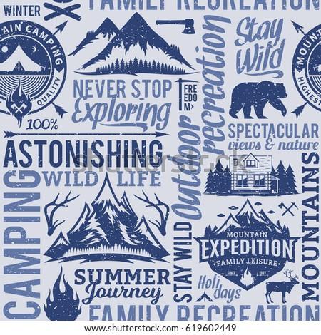 Camping aventura aire libre explorador senderismo Foto stock © JeksonGraphics
