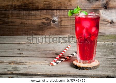 organikus · piros · eprek · üveg · menta · levelek - stock fotó © marylooo