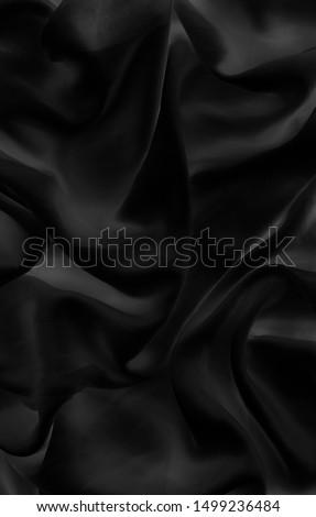 Luxury black soft silk flatlay background texture, holiday glamo Stock photo © Anneleven