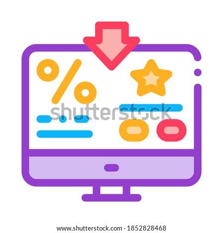 Bônus por cento computador informação ícone vetor Foto stock © pikepicture