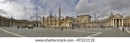 St Peter's Square in Vatican Rome built by Gian Lorenzo Bernini. Stock photo © Zhukow