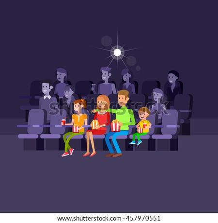 Salon izlerken filmler sinema konser vektör Stok fotoğraf © m_pavlov