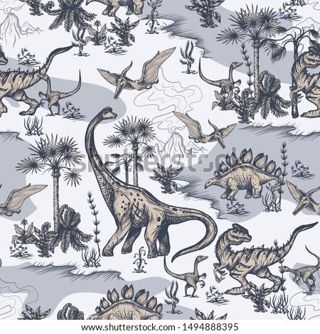 Cute résumé dinosaures tropicales plan Photo stock © Margolana