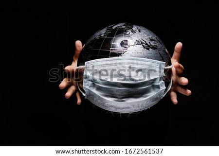 Mãos criança globo infecção doença Foto stock © amok