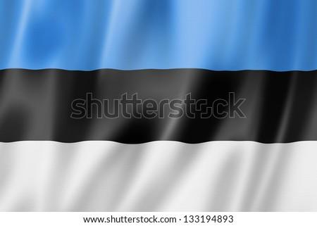 3D bandeira Estônia vento Foto stock © butenkow